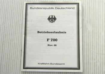 ABE F700 Farmont Glasdach für Porsche 924 928 944 Betriebserlaubnis 11/1988