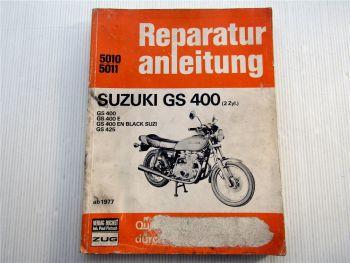 Reparaturanleitung Suzuki GS400 GS 400 425 E EN Black Suzi 2 Zylinder ab 1977