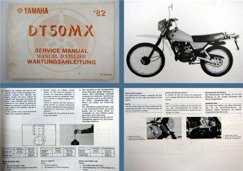 Yamaha DT50MX Werkstatthandbuch Service Manual 1982