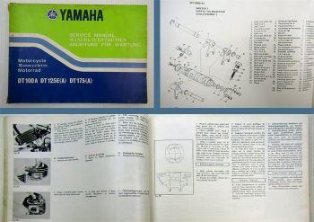 Yamaha DT100A DT125E DT175A Werkstatthandbuch Wartung 1973