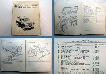 Landrover Land-Rover IIA Series Parts Catalogue 1974