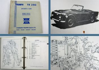 Triumph TR250 Sports Car Parts List Parts Catalogue Ersatzteilliste 1967/68
