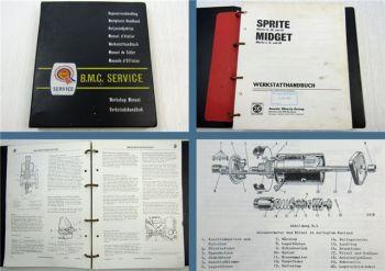 Austin Sprite Mark II III IV + Midget I II III Roadster Werkstatthandbuch 1972
