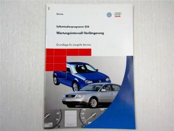 SSP 224 VW Audi Wartungsintervall LongLife Service Selbststudienprogramm