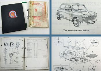 Austin and Morris Mini Saloons Parts List for Body and Mechanical 1965/68