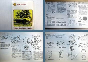 MG Midget Repair Operation Manual 1975 Werkstatthandbuch in englisch