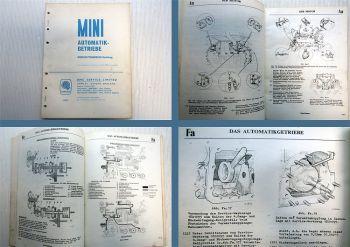 Mini Typ 8AH Automatikgetriebe Werkstatthandbuch Nachtrag 1966