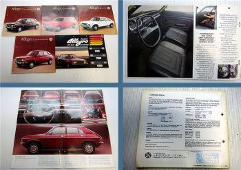 5x Austin Allegro + Allegro 2 1100, 1300, 1500 Prospekte