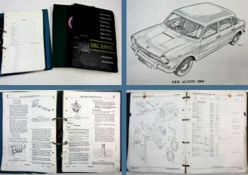 Austin 1800 Morris 1800 Wolseley 18/85 Werkstatthandbuch Ersatzteilliste 1964-69