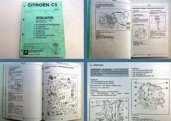 Reparaturanleitung Citroen C5 2,2l HDI Motor DW12TED4 Werkstatthandbuch 2002