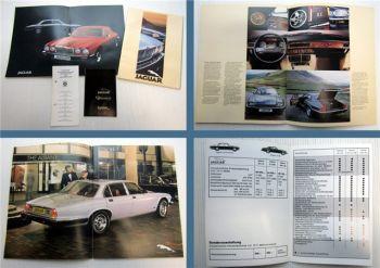 Jaguar XJ, XJS HE 1981 Prospekte + Preisliste ca. 1981