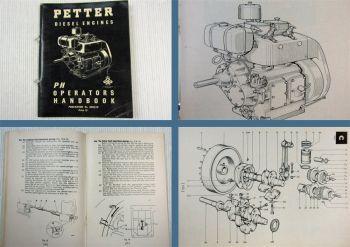 Petter Diesel Engine Type PH Operators Handbook Service Manual