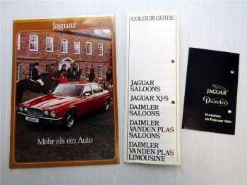 Jaguar XJ 4.2 XJ 5.3 Prospekt + Preisliste + Colour Guide
