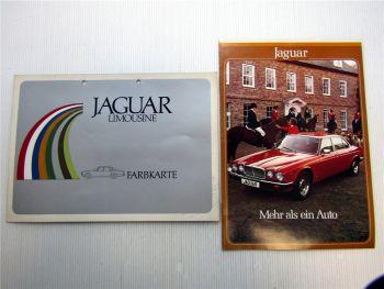 Jaguar XJ 4.2 XJ 5.3 Prospekt + Jaguar Limousine Farbkarte 1979
