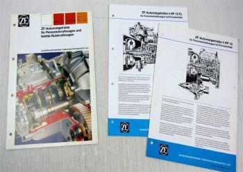 3 Prospekte Broschüren ZF 4HP18 4HP18FL Automatikgetriebe für Alfa Fiat Lancia