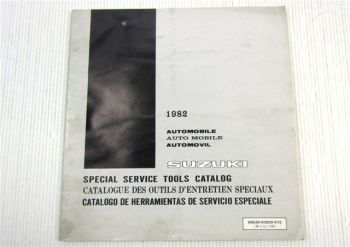 Suzuki Special Service Tools Catalog 1982 Automobile Catalogue Catalogo