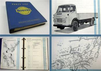 Commer & Karrier Medium Forward Control VA WA models Parts List 02/1963