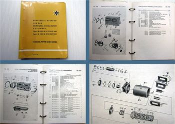 Henschel 6R 0912 G + 6R 1012 G (512 DGP) Dieselmotor Ersatzteilliste 1958