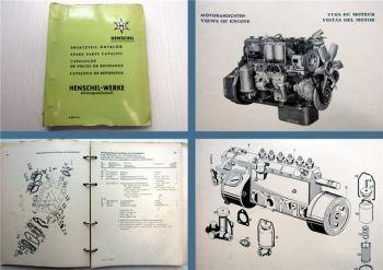 Henschel 6R 1013 P / PF (522 DF-H DPF-H DPF) Dieselmotor Ersatzteilliste 1963