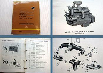 Henschel 6 R 1013 G (522 DGH) Dieselmotor 6 Zylinder Ersatzteilliste