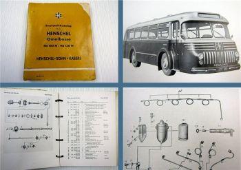 Henschel HS 100 N / HS 120 N Omnibuss Ersatzteilkatalog + Motor 512 + 522