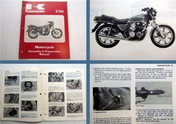 Kawasaki Z750 Motorcycle Assembly and Preparation Manual 1979