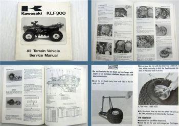 Kawasaki 1986 - 1987 KLF300 All Terrain Vehicle Quad Service Manual 1996