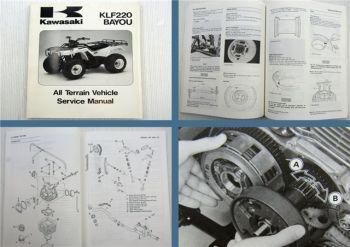 Kawasaki 1988 - 1997 KLF220 BAYOU All Terrain Vehicle Quad Service Manual 1996