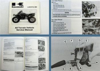 Kawasaki LAKOTA 300 All Terrain Vehicle Quad Service Manual 1996