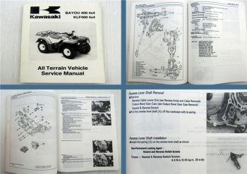 Kawasaki BAYOU KLF 400 4x4 All Terrain Vehicle Quad Service Manual 1996