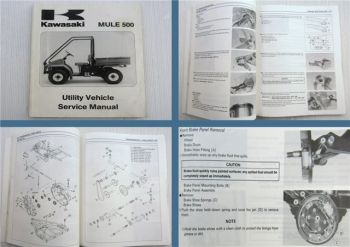 Kawasaki MULE 500 KAF300-A1 Utility Vehicle Service Manual 1997