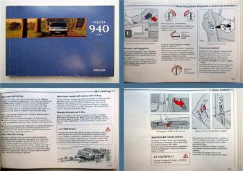 Volvo 940 1996 manuale di uso e manutenzione Betriebsanleitung Italienisch