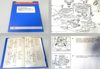 Reparaturleitfaden VW Golf Cabriolet Getriebe 02J DSF DSG 1998 Werkstatthandbuch