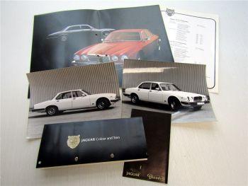 Jaguar XJ 4.2 XJ 5.3 Prospekt Preislisten Farbkarte Fotos 1978 / 1980