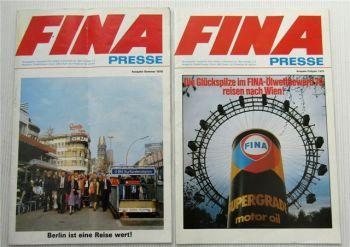 2 Zeitschriften FINA Presse Tankstelle 1978 und 1979 Fachzeitschrift Zeitung