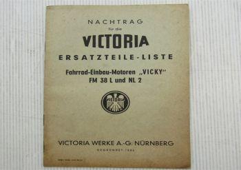 Victoria Vicky FM38L und NL2 Fahrrad Einbau Motoren Nachtrag zur Ersatzteilliste