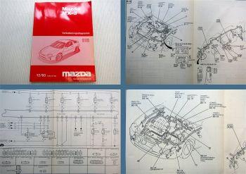 Mazda MX-3 EC Schaltpläne Elektrik Stromlaufpläne 1993 Verkabelungsdiagramm