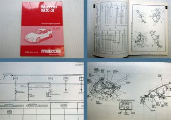 Mazda MX-3 EC Schaltpläne Elektrik Stromlaufpläne 1996 Verkabelungsdiagramm