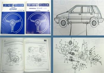 Honda Civic Shuttle 4WD Nachträge zum Werkstatthandbuch Reparaturanleitung 86/87