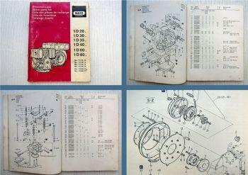 Hatz 1D20 1D30 1D40 A1D35 A1D40 1D60 1D80 Dieselmotor Ersatzteilliste 1993