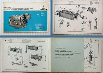 Deutz F6L 911, F6L 912 Ersatzteilliste Parts List 1971