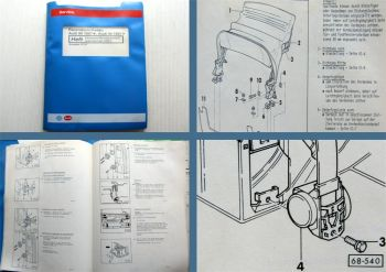 Werkstatthandbuch Audi 80 Cabriolet Typ 89 Karosserie Montagearbeiten ab 1992