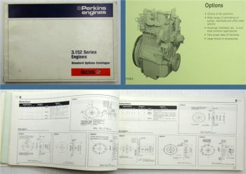 Perkins 3.152 Series Engines Standard Options Catalogue SOS2 1979