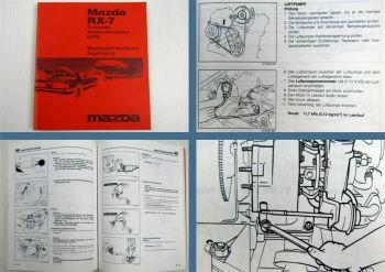 Mazda RX-7 Turbolader ABS Ergänzung Reparaturhandbuch Werkstatthandbuch 87