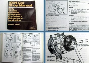 Ford Tempo Topaz Shop Manual Maintenance Lubrication Powertrain Chassis Electric