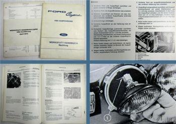 Ford Capri USA Ausführung ECJ Coupe Werkstatthandbuch Nachtrag 1972 + 1974