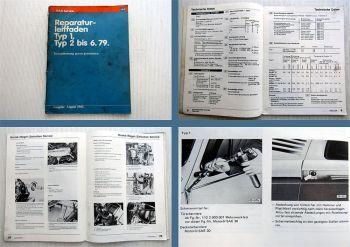 Reparaturleitfaden VW Typ 1 + 2 1967-79 Instandhaltung Werkstatthandbuch