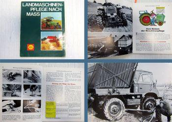 Shell Landmaschinenpflege nach Maß Unimog Fendt Deutz ca. 1970
