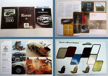 3x Leyland Rover 3500 Prospekte Farbkarte 1977 / 1979