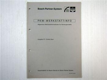 Citroen Saxo Bosch Dienst Elektrische Anlage Einstellwerte 1997